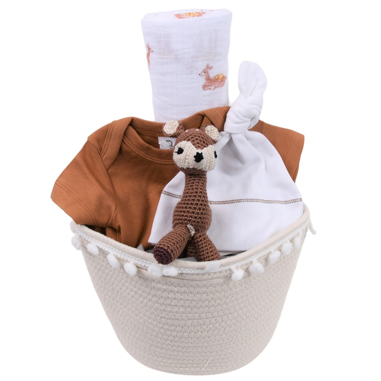 Spring Baby Gift Basket - Forest Fawn