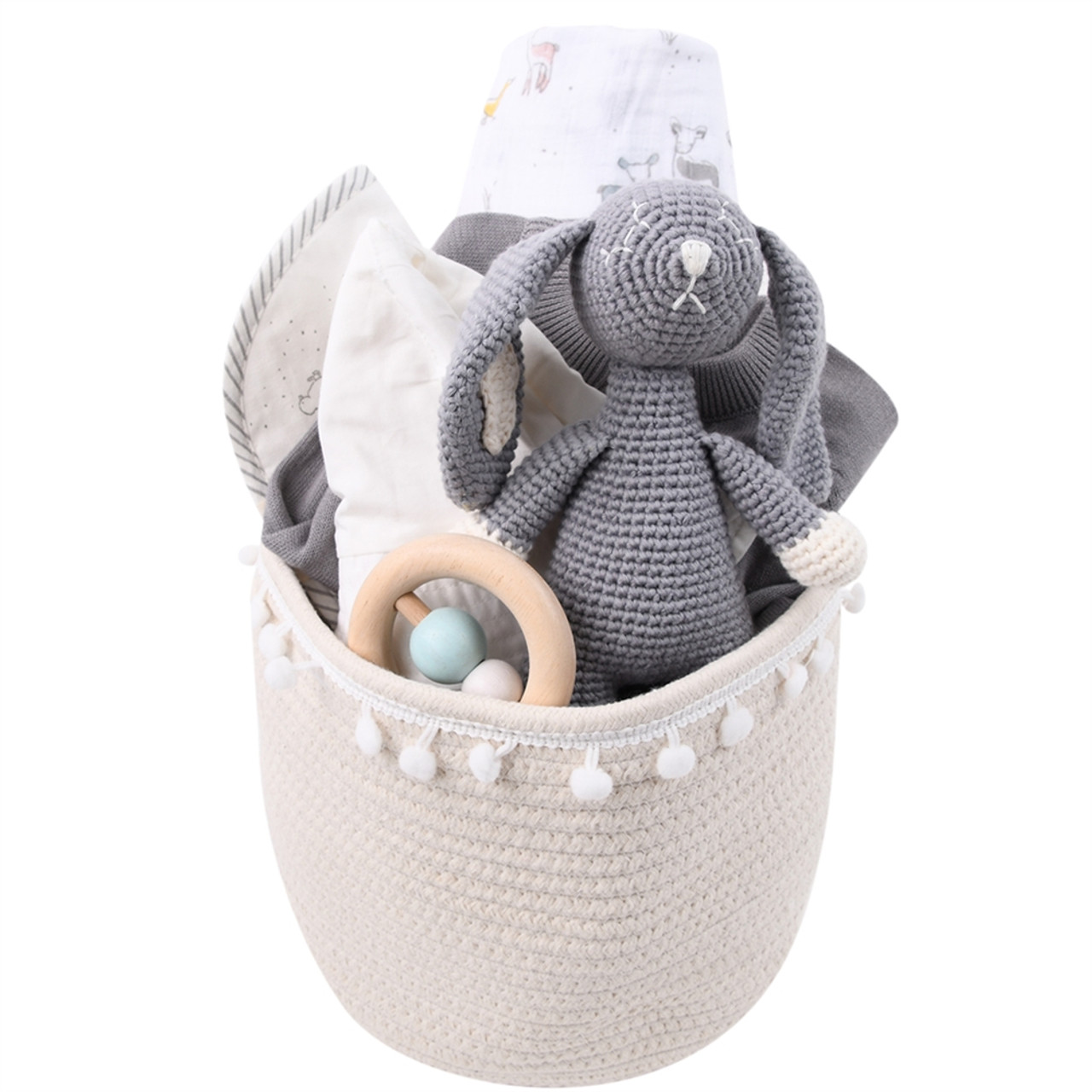 Bunny Gift Basket for Baby - Just Hatched