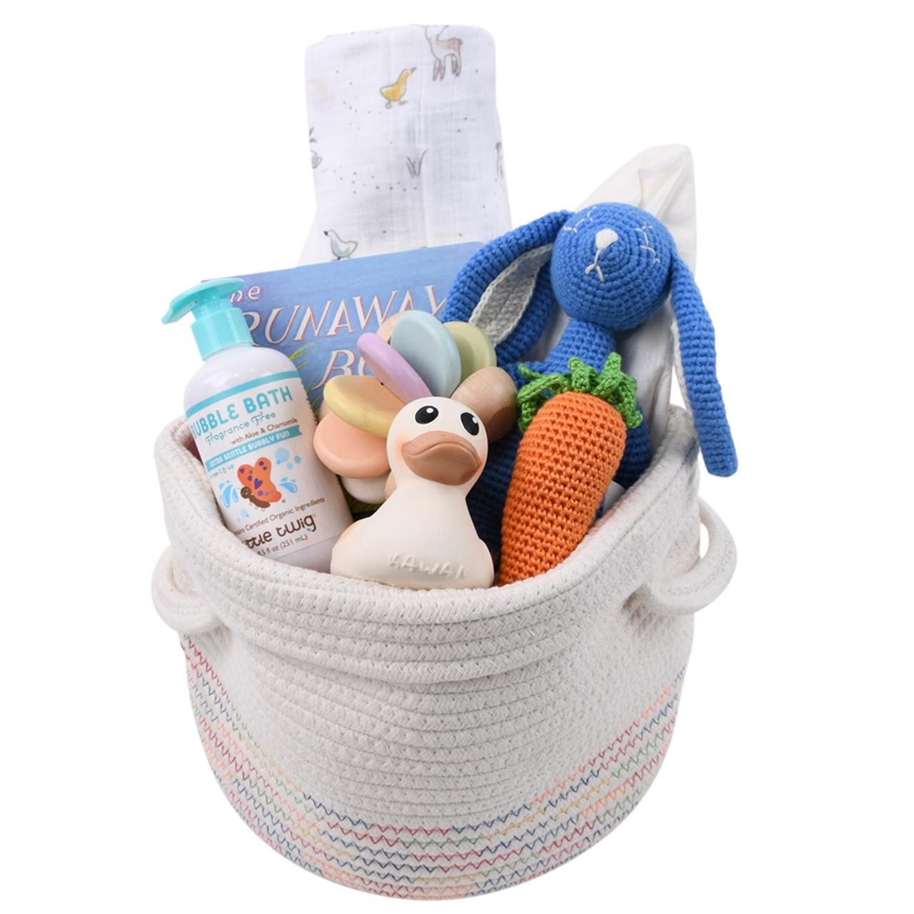 Baby Gift Basket for Baby Boy - Hoppy - Blue