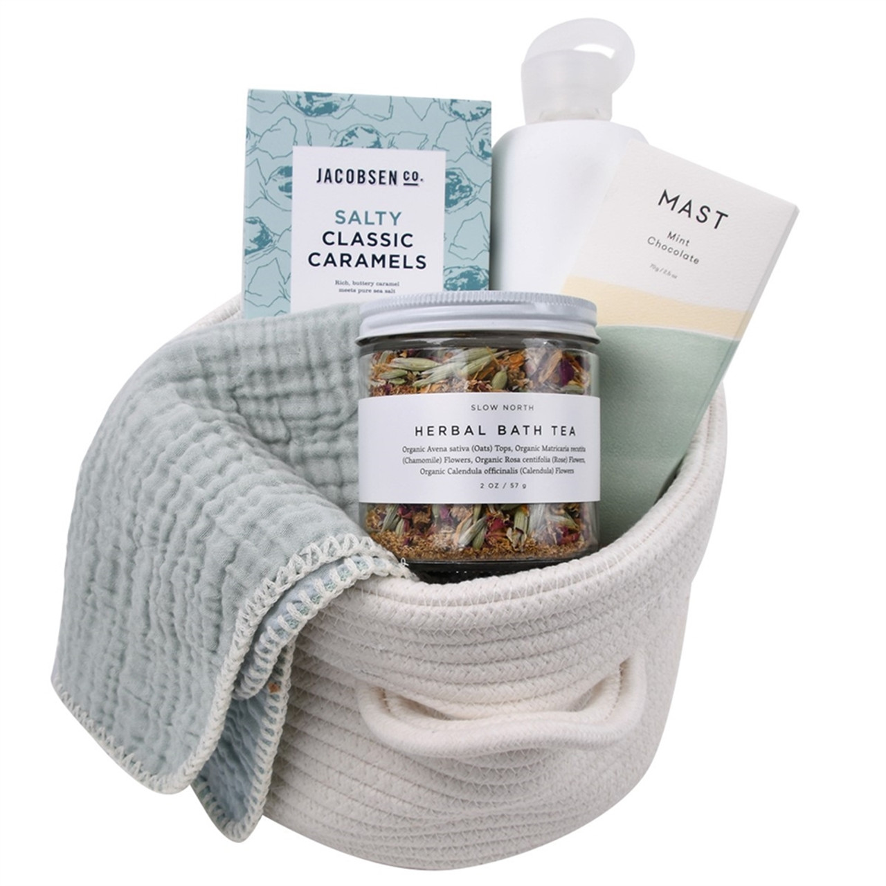 Natural Spa Gift Basket - Birthday, Thinking of You - Ocean Breeze