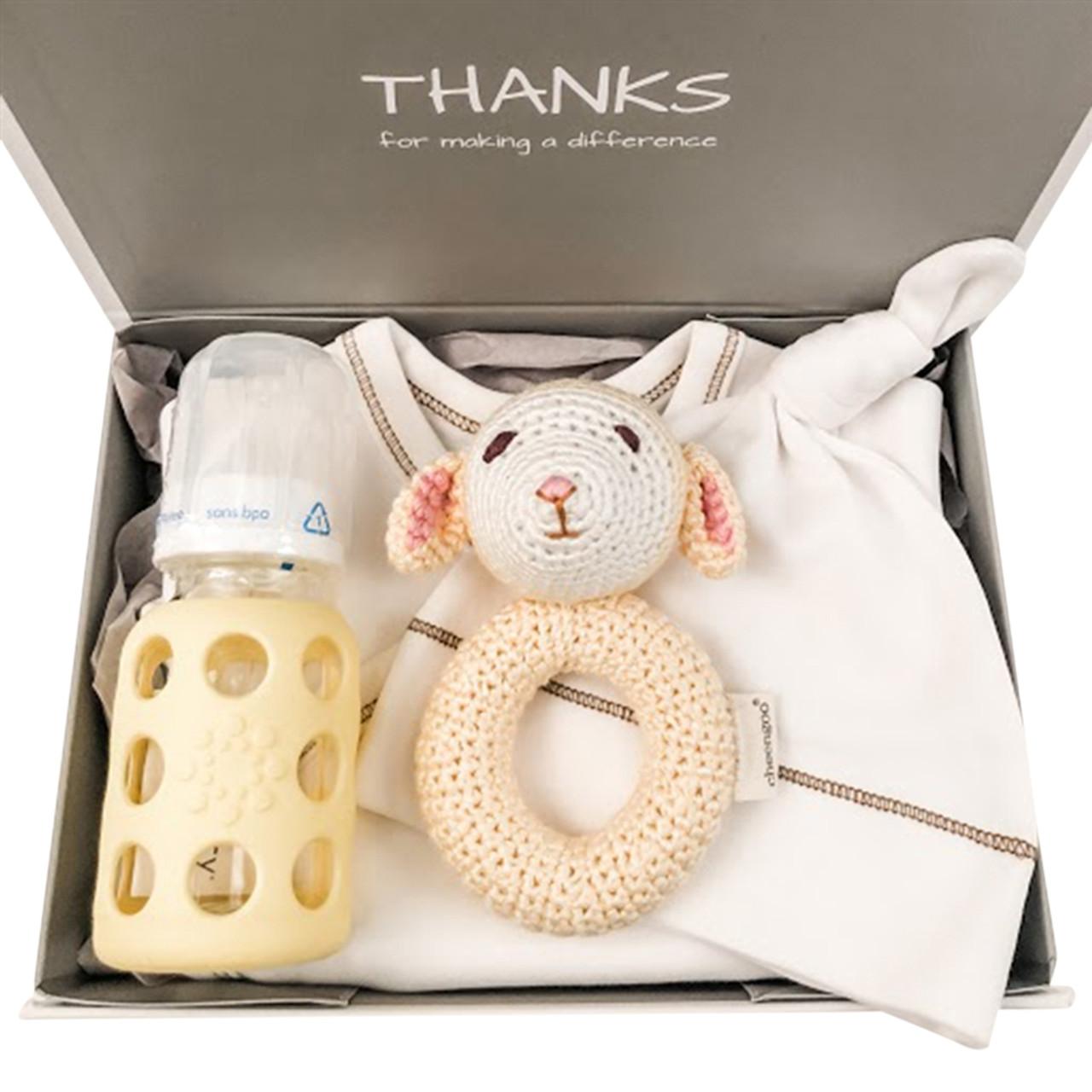 Unisex Organic Baby Basket - Little Love Yellow