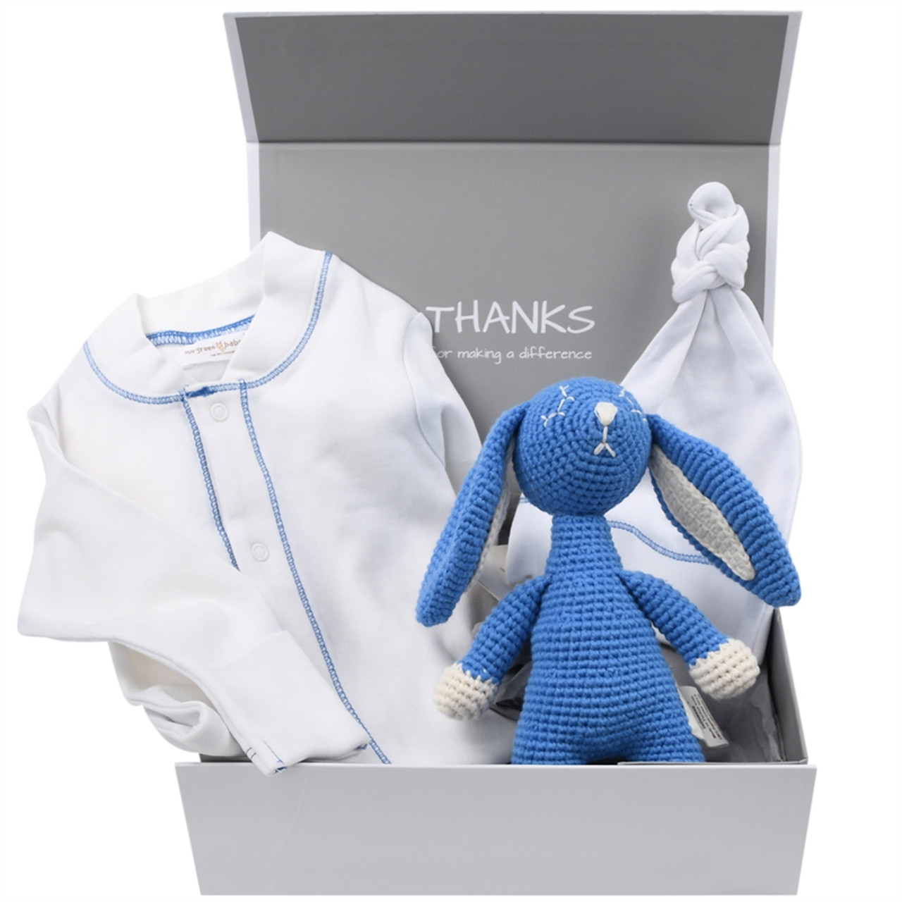 Organic Baby Gift Box - Welcome Baby Boy