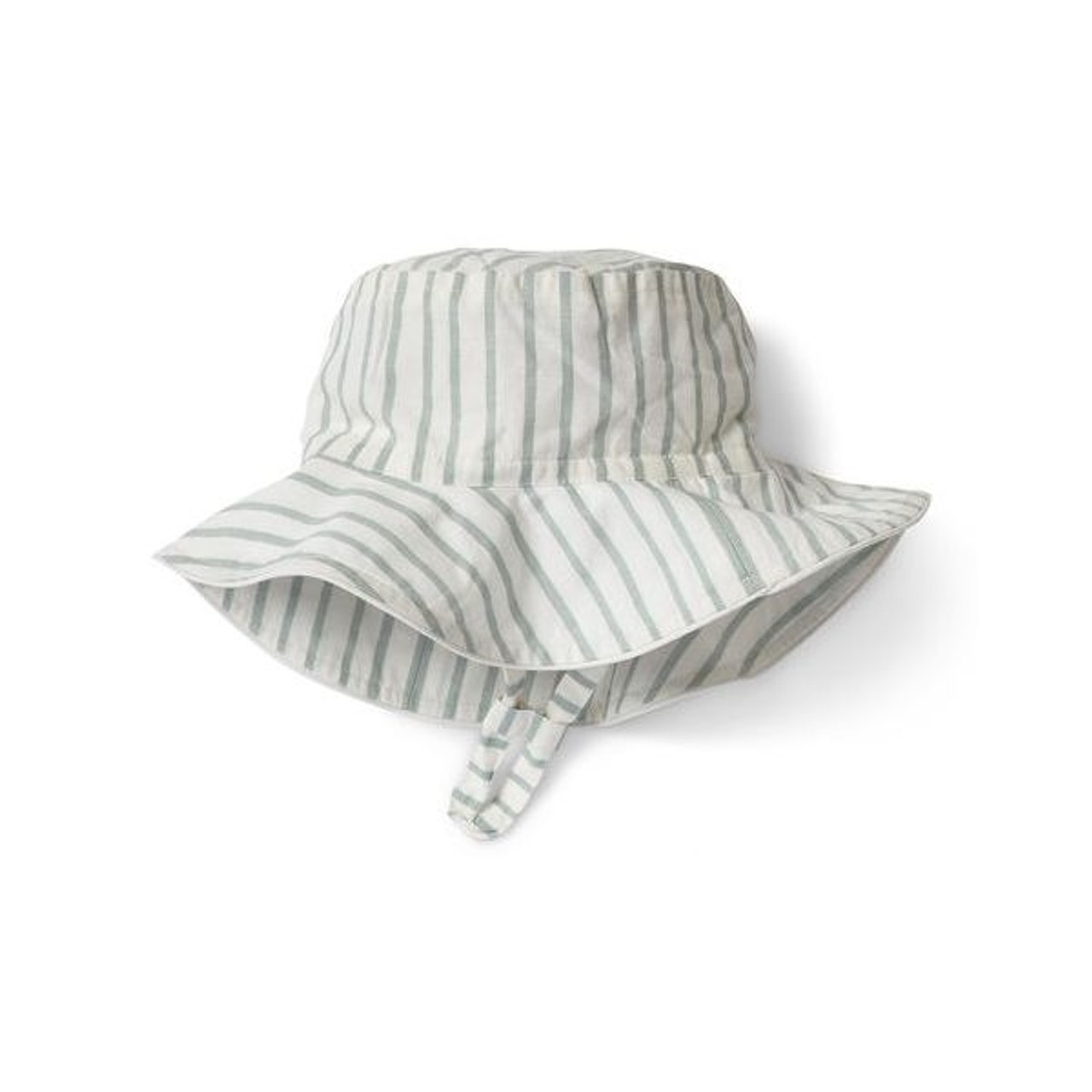 Organic Cotton Sun Hat - Green Stripe, 0-6m
