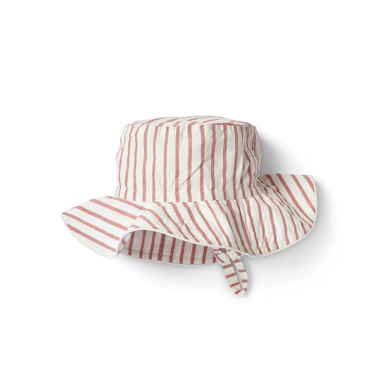 Organic Cotton Sun Hat - Pink Stripe, 6-12