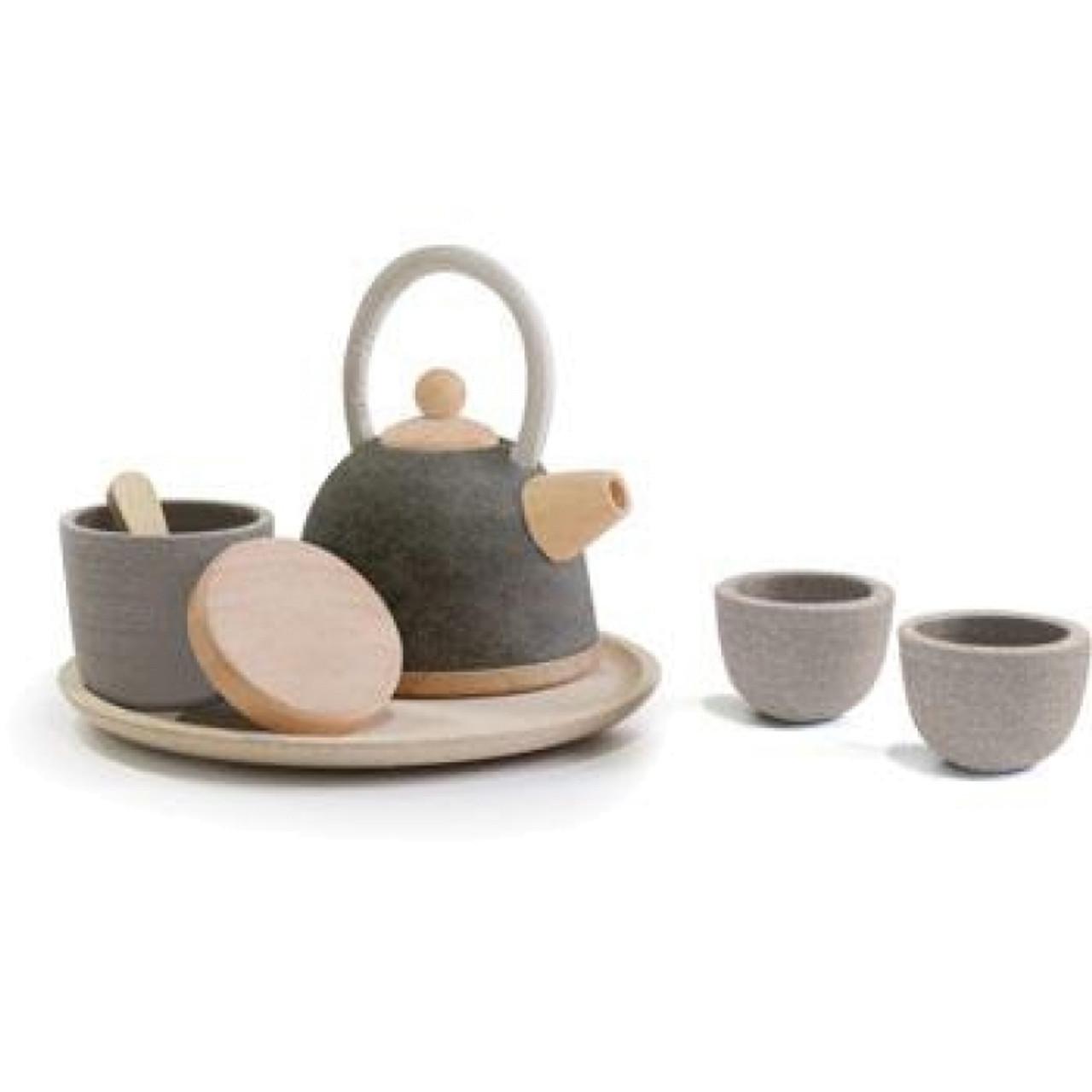 Wooden Tea Set - Oriental Style