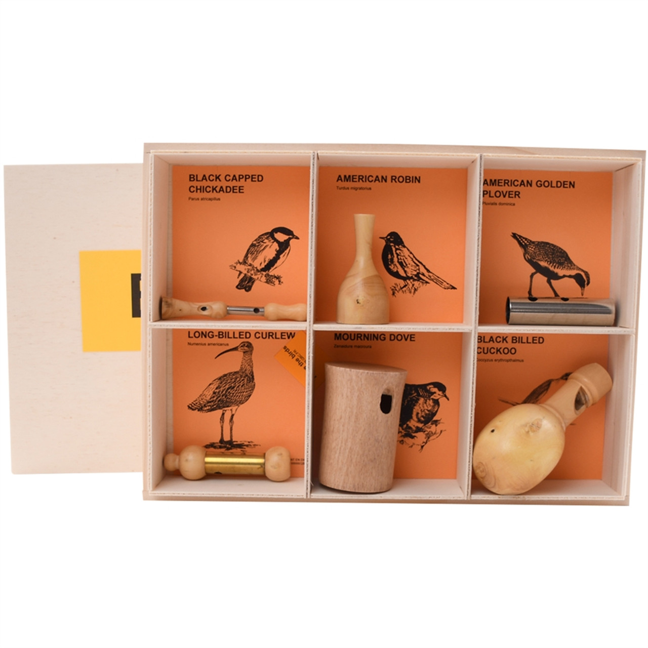 Wooden Bird Whistles North American Bird Calls Set