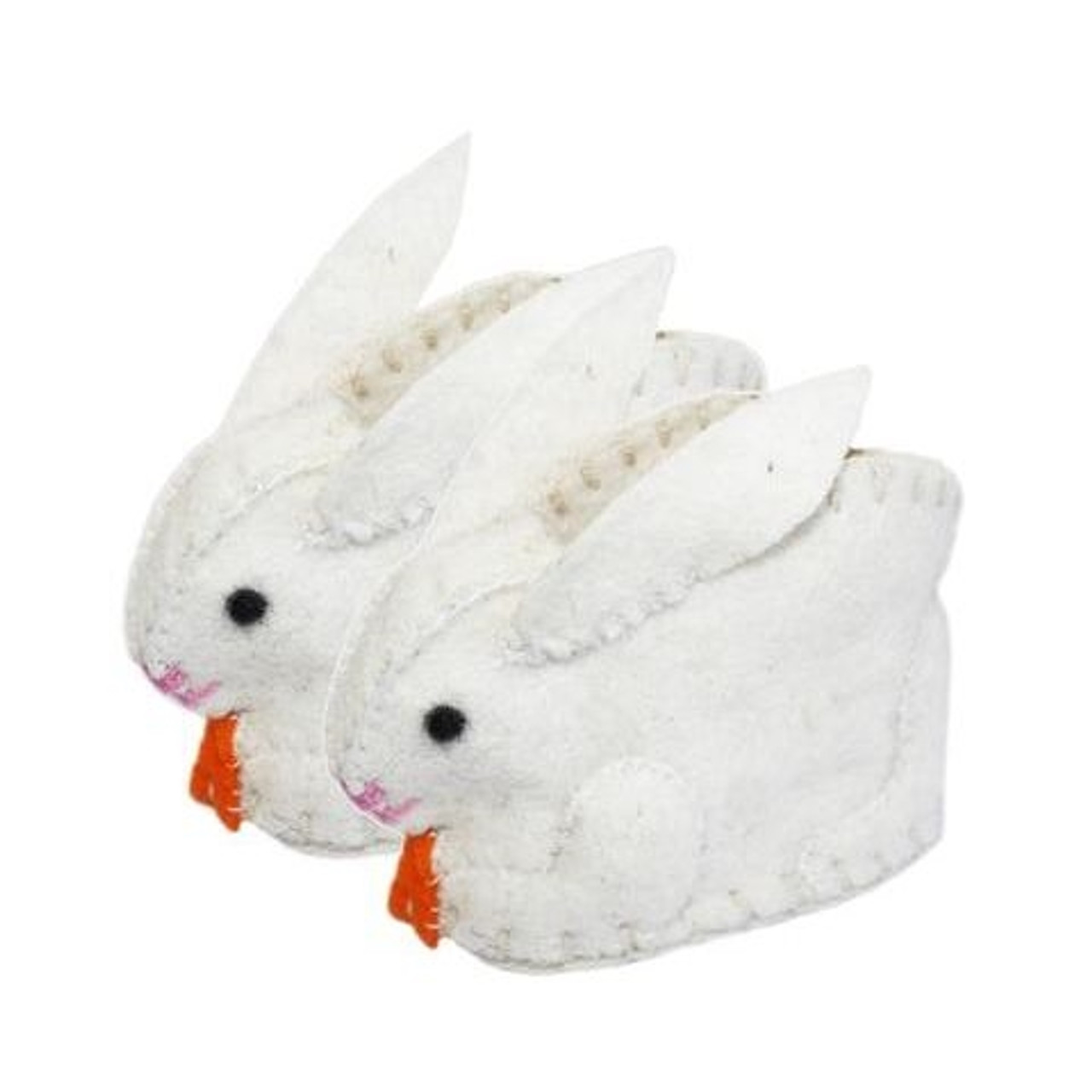 Bunny Baby Booties - Wool Felt