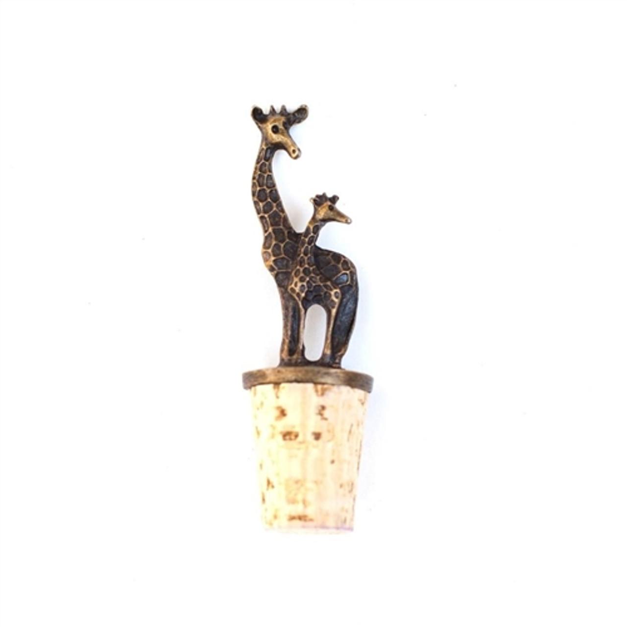 Brass Wine Stopper- Giraffe