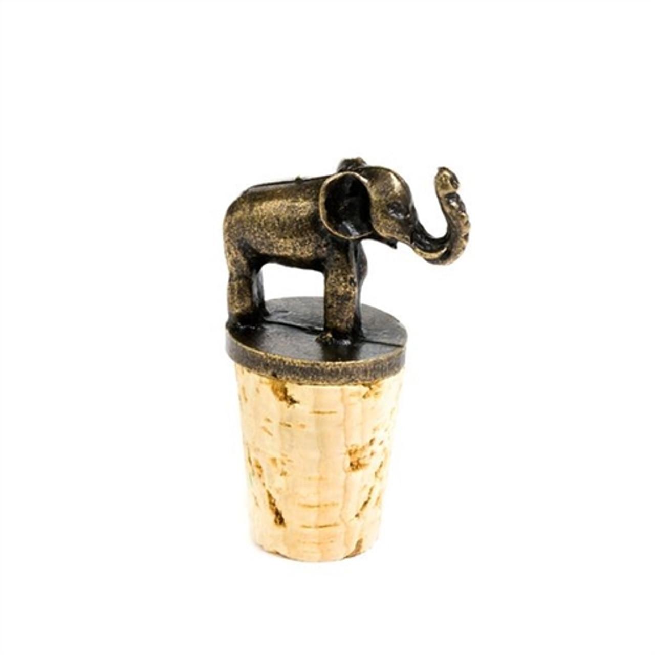 Brass Wine Stopper- Elephant