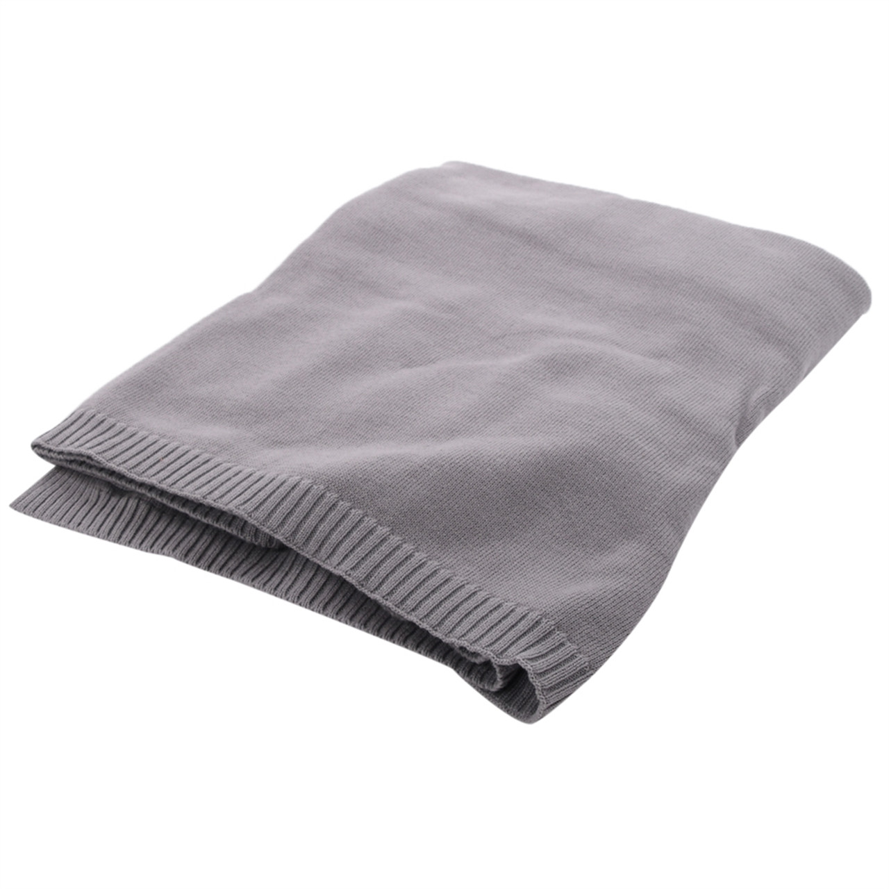 Organic Baby Blanket - Knit Grey