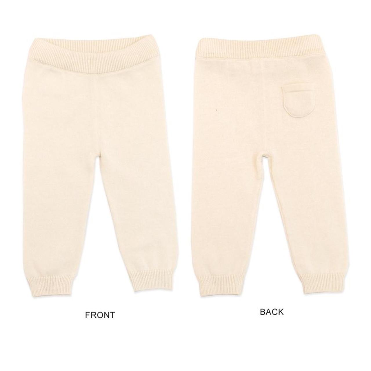 Organic Knit Pants - Cream - 3-6 Months