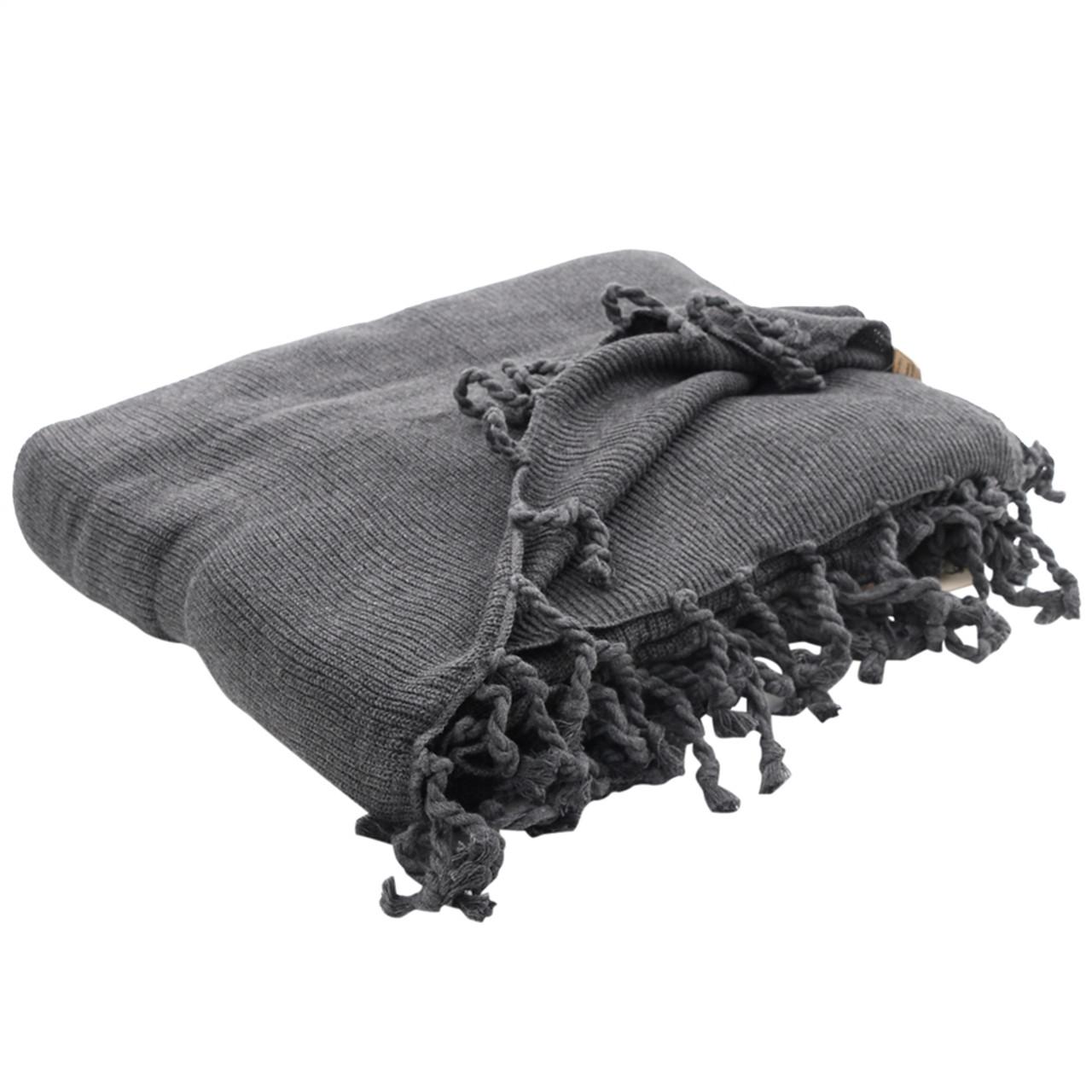 Organic Throw Blanket - Grey