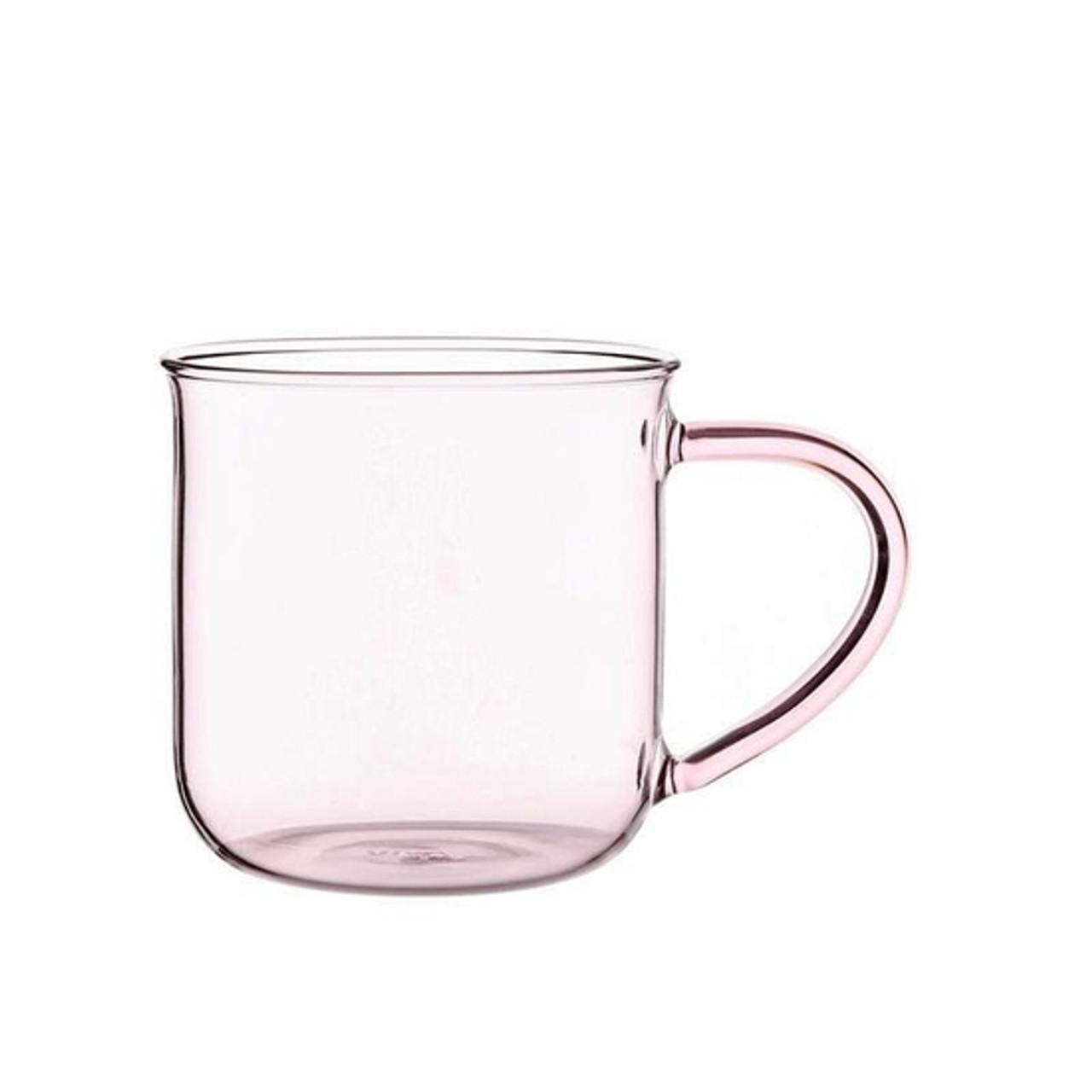 Modern Glass Mug - Pink