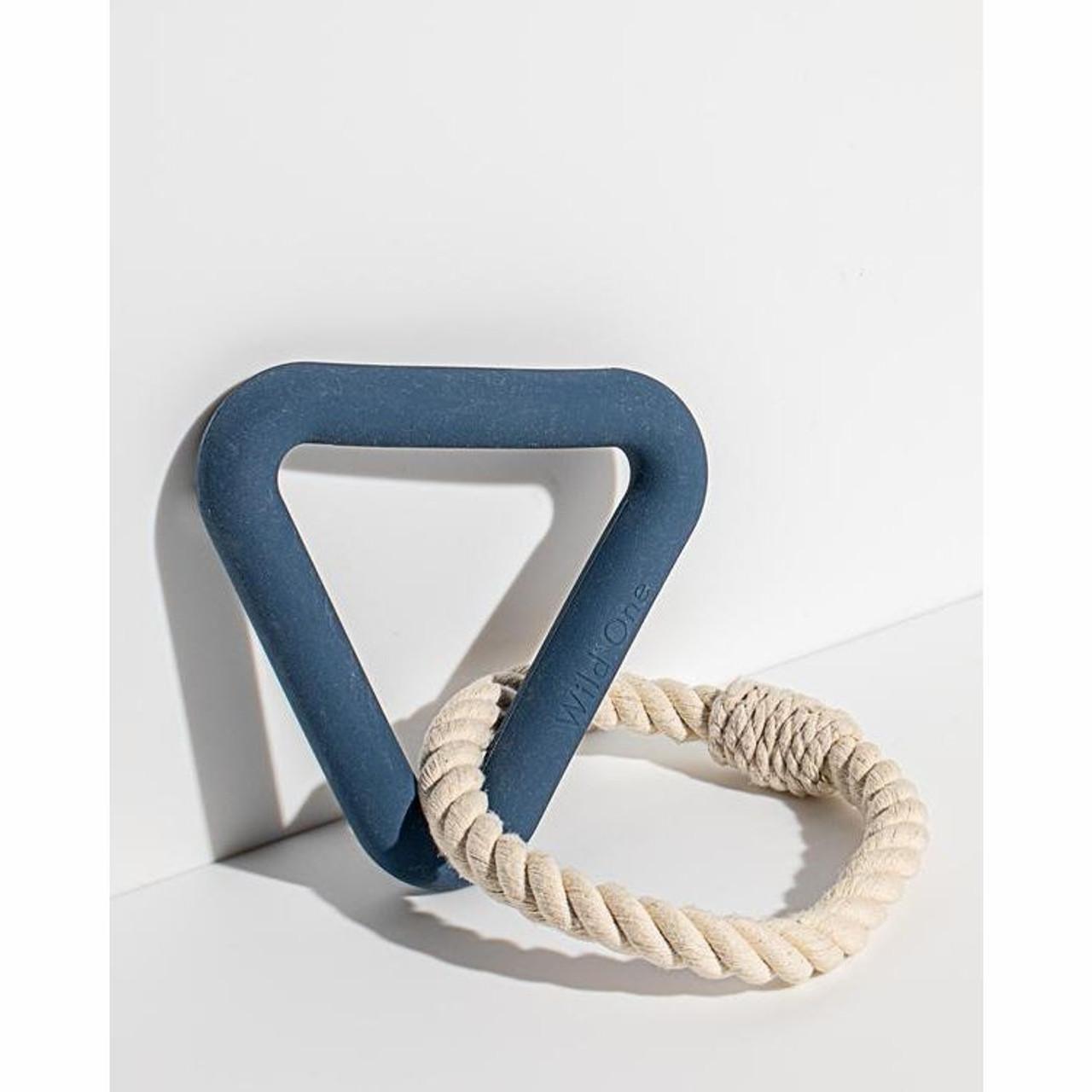 ild One - Eco-friendly Dog Toys - Triangle Tug - Navy
