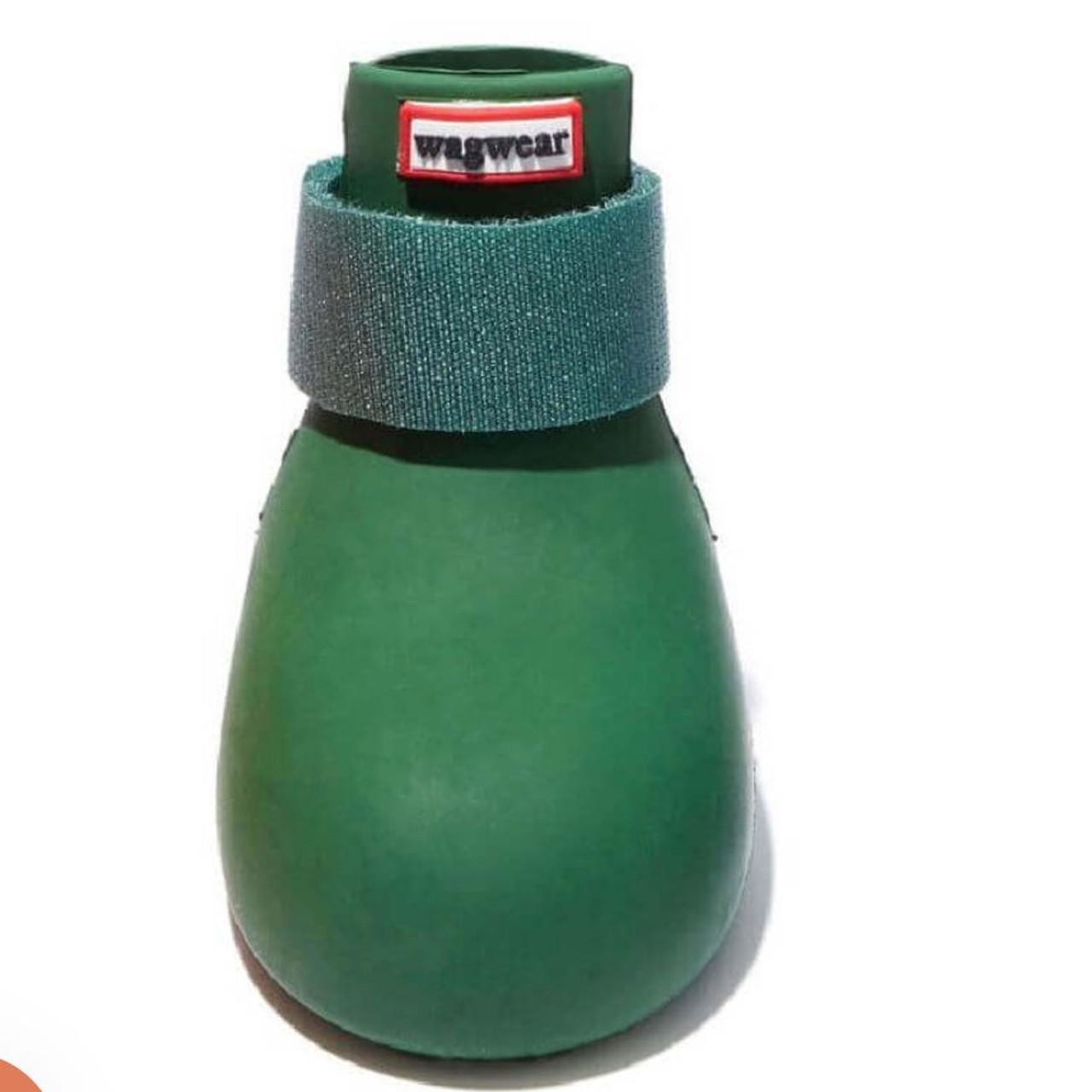 Wagwear - Dog Wellies - Rubber Rainboots (Set of 4) - Green - S (25-35lbs)