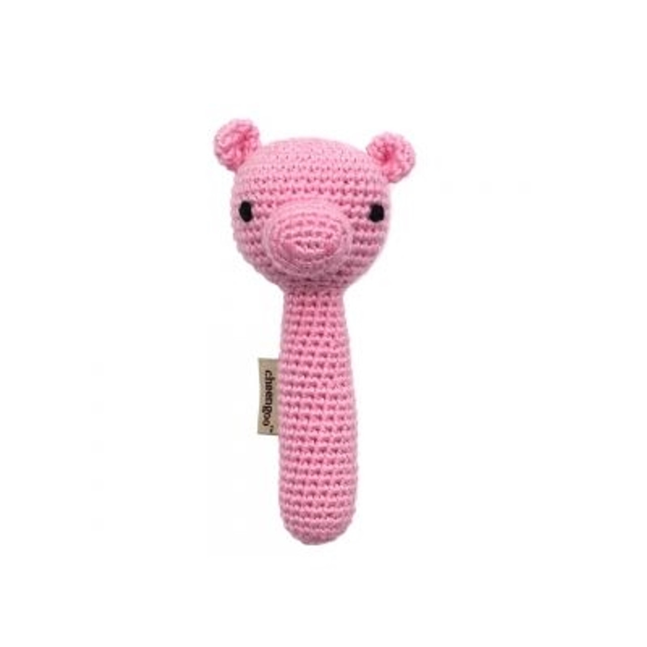 Organic Baby Toys - Pig Rattle
