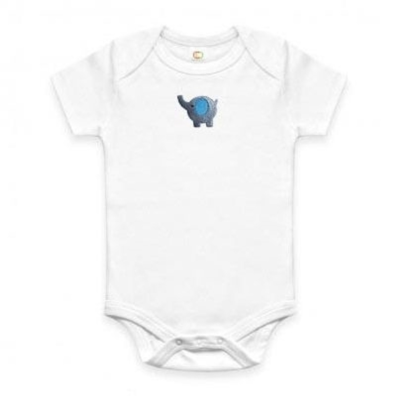 Organic Baby Onesie - Embroidered Elephant