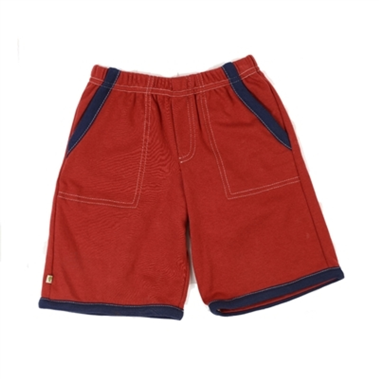 Organic Shorts for Toddlers - Red 2T