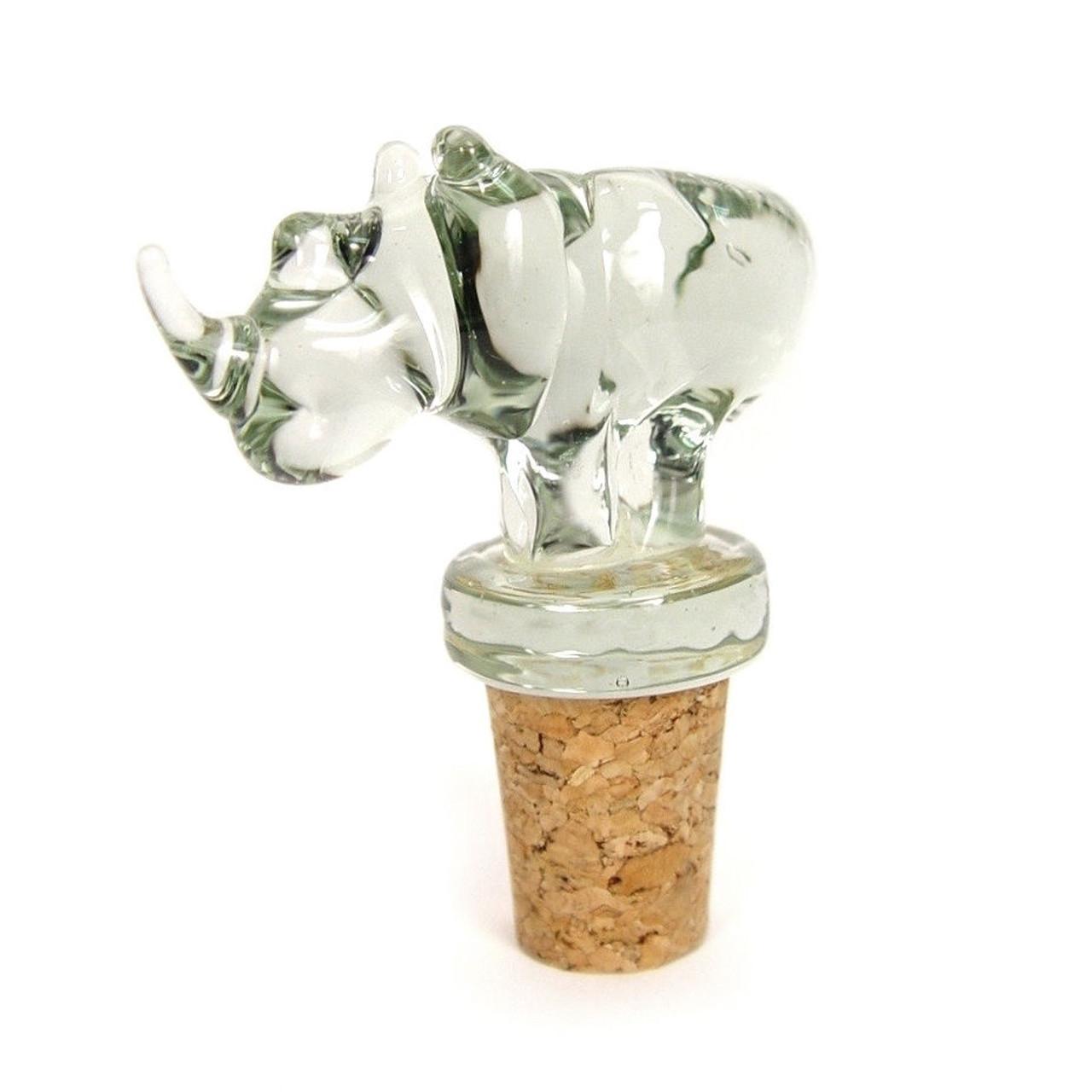 Rhino Glass Wine Stopper