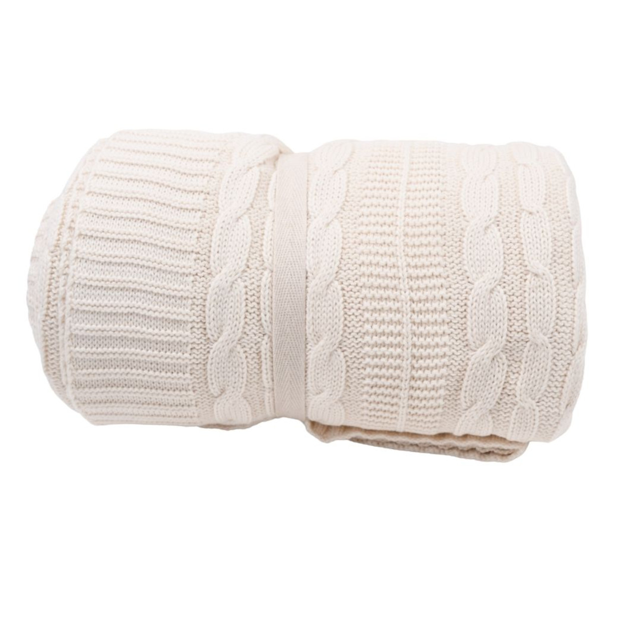 Organic Throw Blanket - Cream