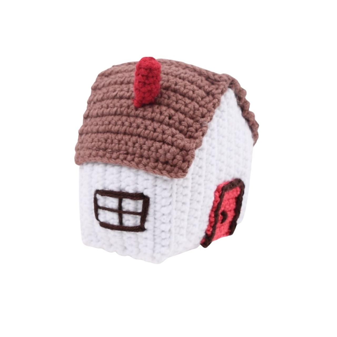 Organic  Baby Rattle - House