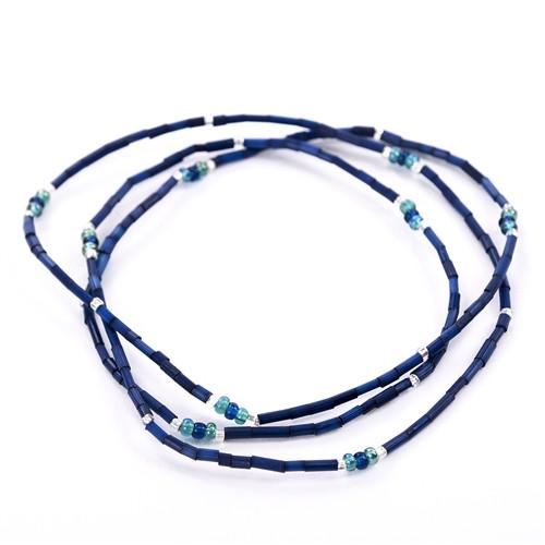 African Jewelry - Zulugrass Navy Blue