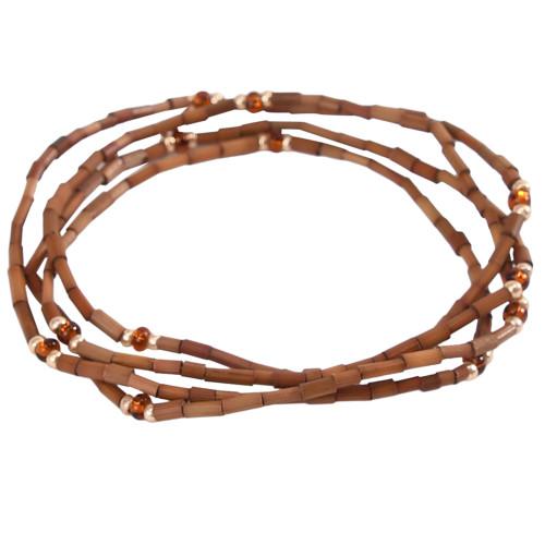 African Jewelry - Zulugrass Caramel Brown