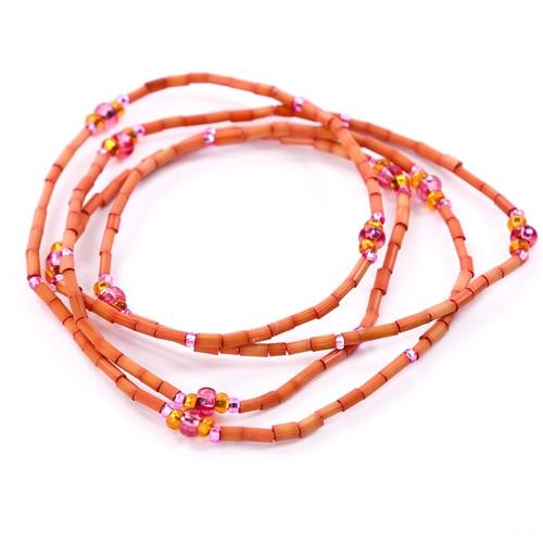African Jewelry - Zulugrass Orange