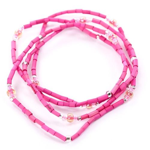 African Jewelry - Zulugrass Hot Pink