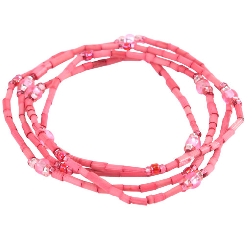 African Jewelry - Zulugrass Rose Pink