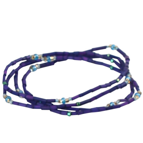 African Jewelry - Zulugrass Dark Purple