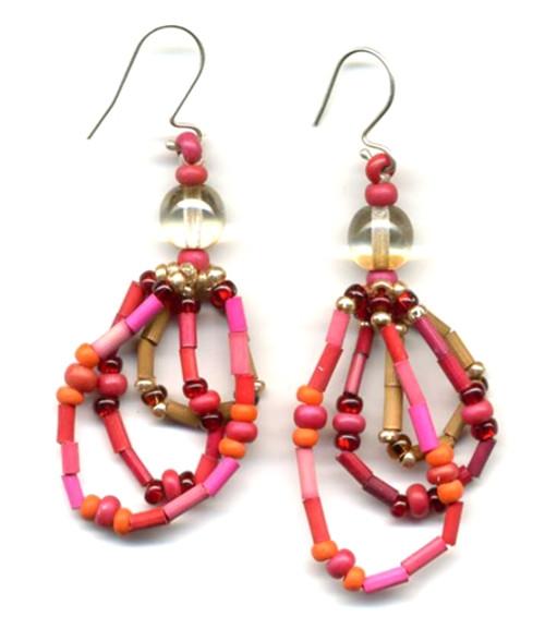 zulugrass Earrings - Garnet