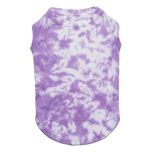 Tie Dye Dog Clothes - Violet Tank Shirt - Large (10-14lb)