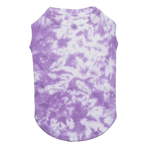 Tie Dye Dog Clothes - Violet Tank Shirt - Medium (6-10lb)