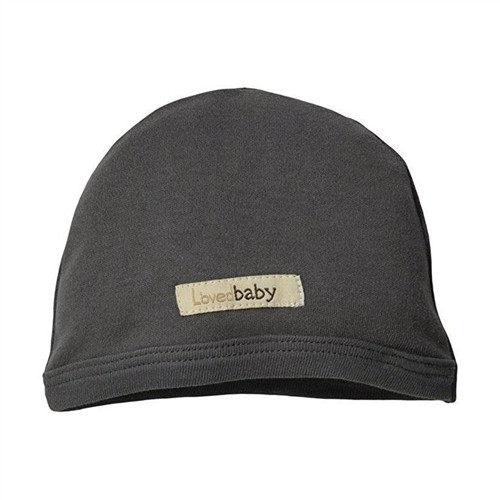 Grey Baby Cap - Organic Cotton NB-3m