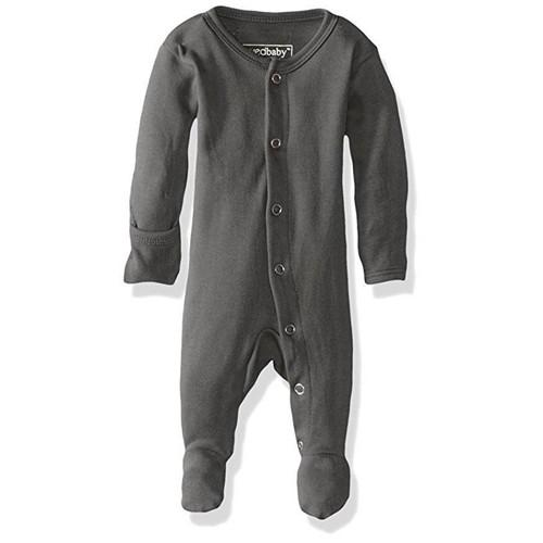 Grey Organic Baby Footie - NB-3m