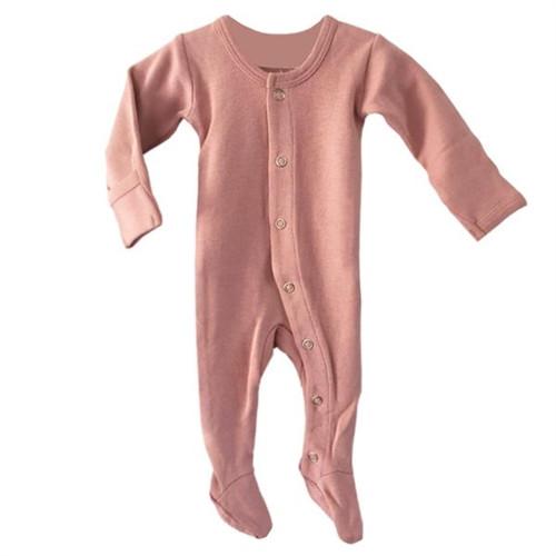Organic Baby Footie - NB-3m, Mauve