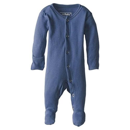Blue Organic Baby Footie - NB-3m
