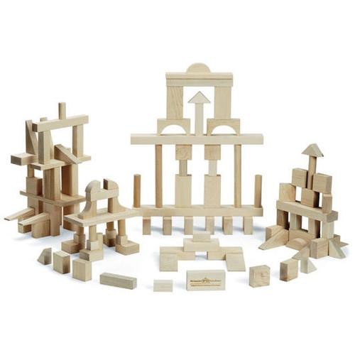 Wooden Toy Block Set - 104 Pieces