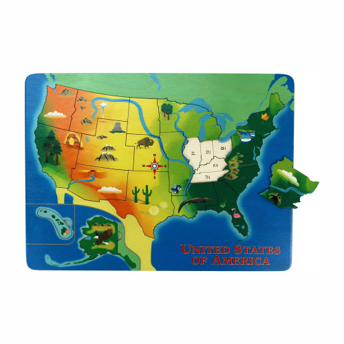 Toys Made in the USA - Puzzle - United States