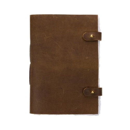 Fair Trade Leather Journal with Tree Free Paper