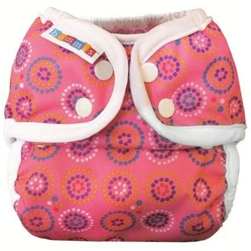 Bummis Cloth Diapering Duo Brite Wrap - Pink - Size 2 (20-35 lbs)