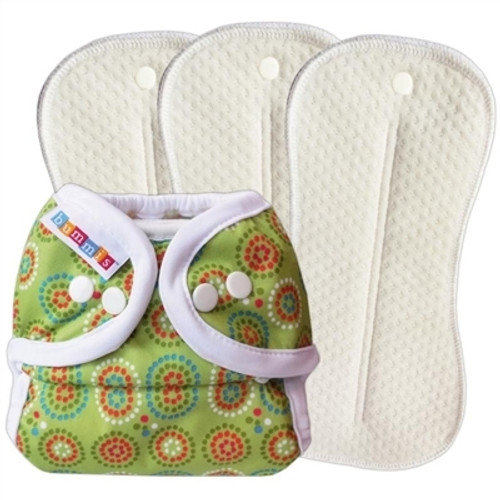 Cloth Diapering Deluxe Set Green Size 1 (8-20lbs)