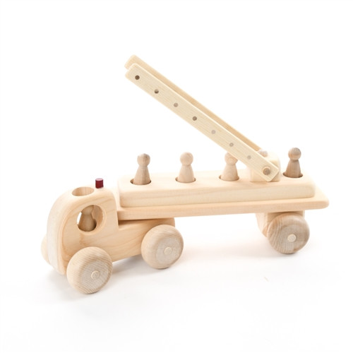 Wooden Fire Truck Toy