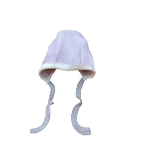 Organic Baby Bonnets - Lilac - 3-6 Months