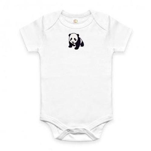 Organic Panda Onesie - 3-6 Months