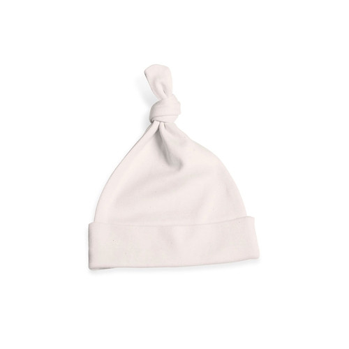 Organic Jersey Knotted Hat - Natural - 0-3 Months