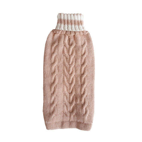 Wool Dog Sweater - Dusty Pink, Med 14-24lb