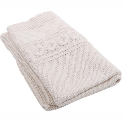 Hand Knit Baby Blanket - Organic