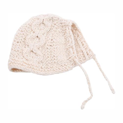 Organic Baby Bonnet - Hand Knit
